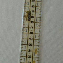 Régua de patchwork 3*30 cm