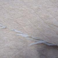 Retalho Malha de algodão Alcochoada dupla creme
