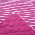 Malha de algodão Alcochoada dupla Rosa fushia