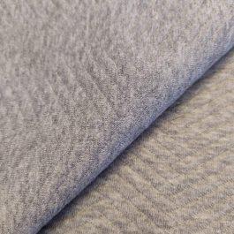 Malha de algodão Alcochoada dupla cinza