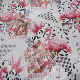 Tecido plastificado Flamingos