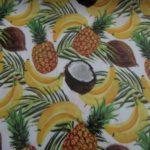 Tecido plastificado fruta tropical