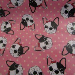 Tecido plastificado Cães rosa