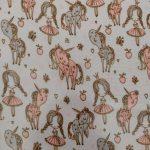 Tecido plastificado princess and unicorns
