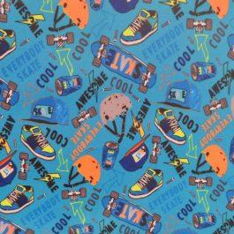 Tecido plastificado cool skater azul