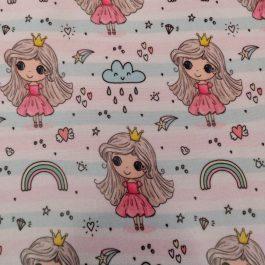 Tecido plastificado rainbow princess