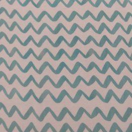 Tecido plastificado chevron verde turquesa