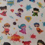 Tecido plastificado Super heróis