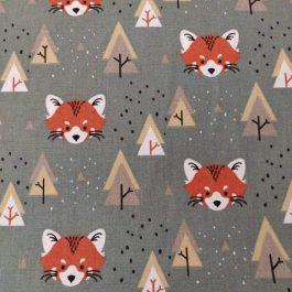 Tecido raposas