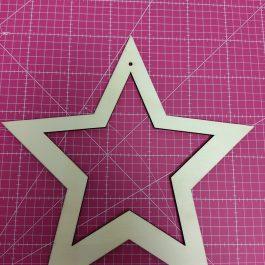 Aro recortado em forma estrela