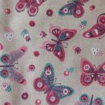 Tecido borboletas