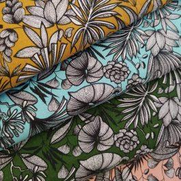 Tecido tropical flower