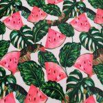Tecido plastificado melancias