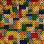 Tecido Legos