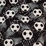 Tecido Tossed soccerballs