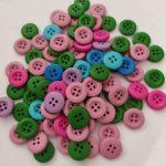 Botões madeira coloridos