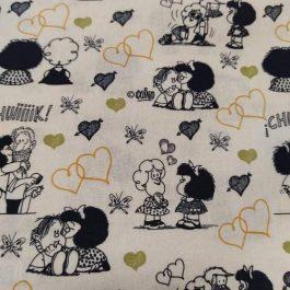 Tecido Mafalda Love