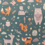 Tecido animais do bosque