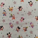 Tecido Mickey and friends stars
