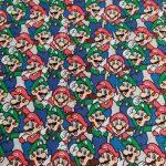 Tecido Mário e Luigi-Nintendo