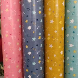 Tecido plastificado estrelas