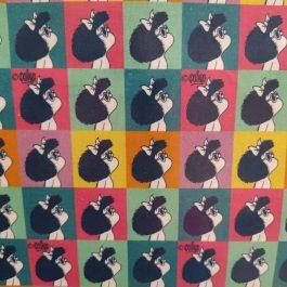 Tecido plastificado Mafalda