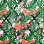 Tecido plastificado tropical
