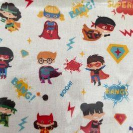 Tecido plastificado Super heroís
