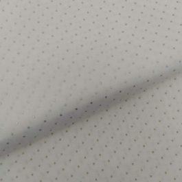 Tecido fd branco com pintinhas