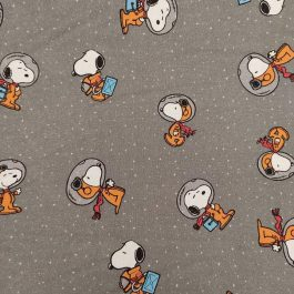Tecido Snoopy no espaço