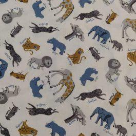 Tecido animais da selva